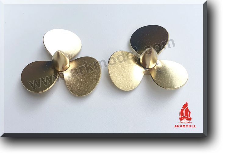 3blades M4 diameter35mm Brass Propeller(L/R) 162 Series