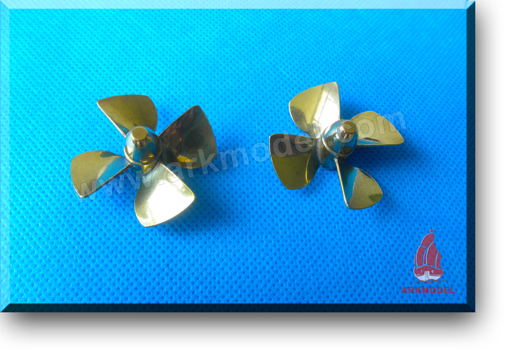 4blades M4 diameter35mm Brass Propeller(L/R) 149 Series