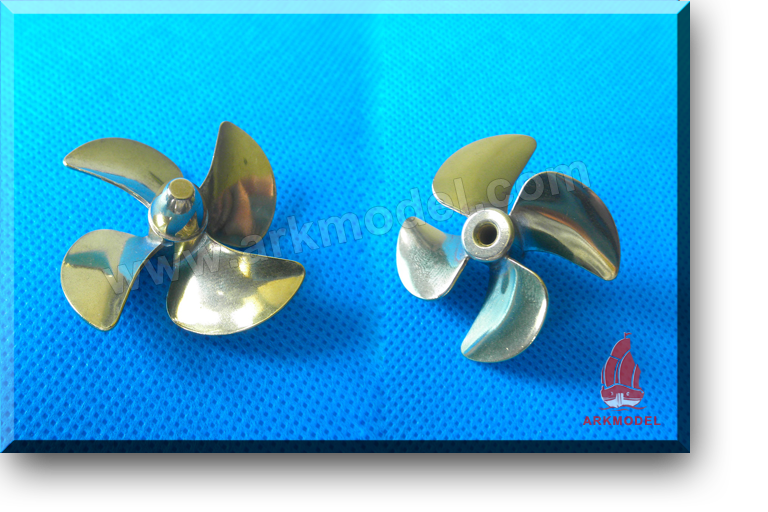 4blades M4 diameter45mm Brass Propeller(L/R) 174 Series