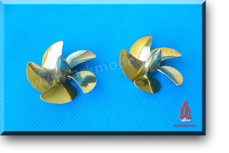 5blades M4 diameter40mm Brass Propeller(L/R) 168 Series