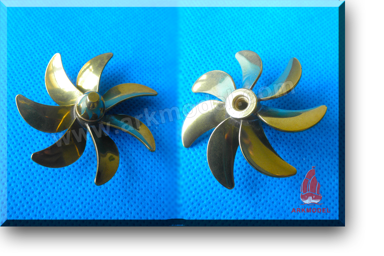7blades M4 diameter45mm Brass Propeller(R) 185 Series